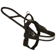 All Weather Nylon Black Russian TerrierHarness for Guide and Assistance
