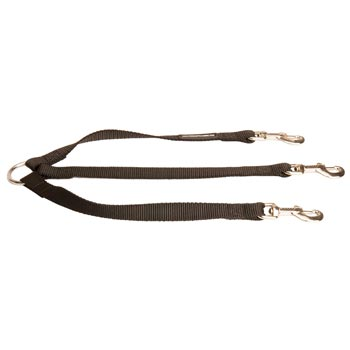 Triple Nylon Leash for Walking 3 Black Russian Terrier Dogs