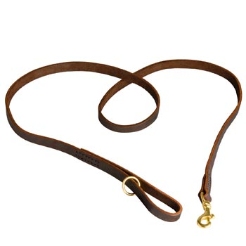 Durable Leather Black Russian Terrier Leash